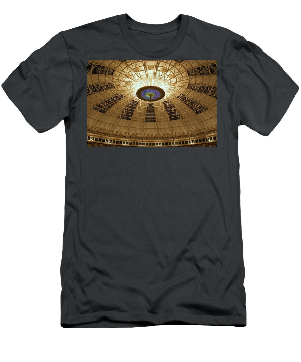 Domes Men's T-Shirt (Athletic Fit) featuring the photograph Top Of The Dome by Sandy Keeton