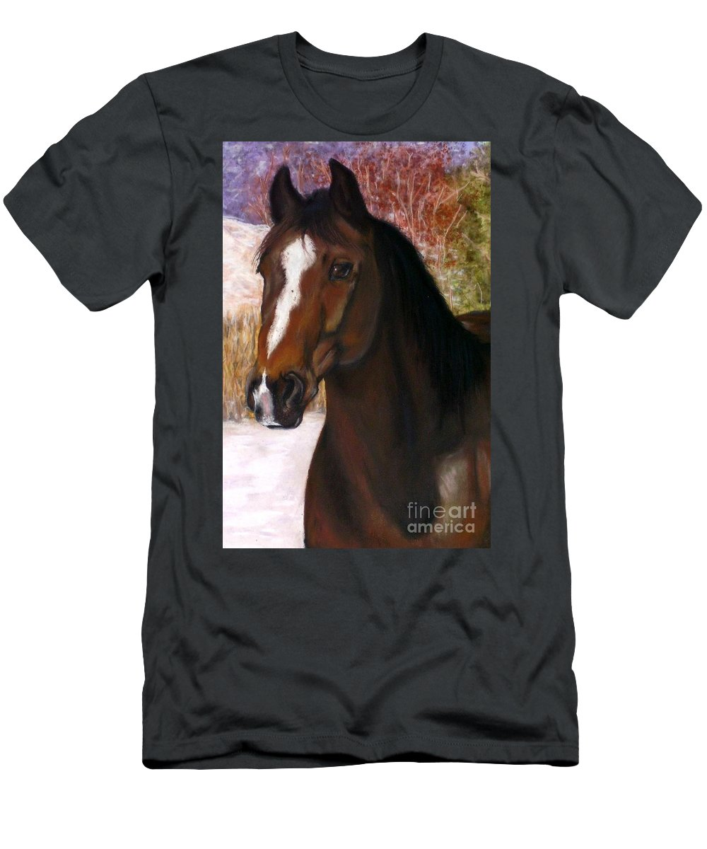 Horse Men's T-Shirt (Athletic Fit) featuring the painting Toronto by Frances Marino