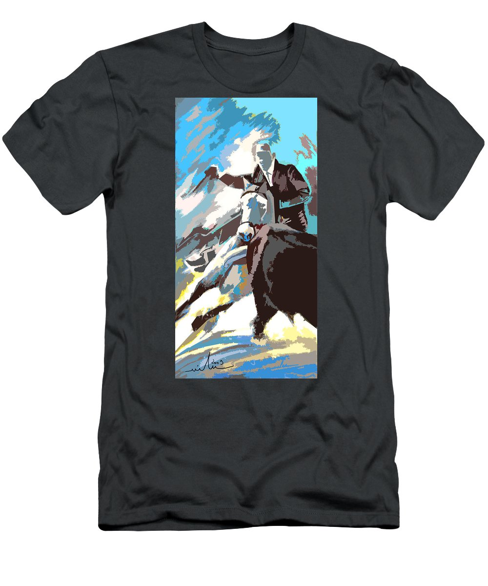 Animals Men's T-Shirt (Athletic Fit) featuring the painting Toroscape 31 by Miki De Goodaboom