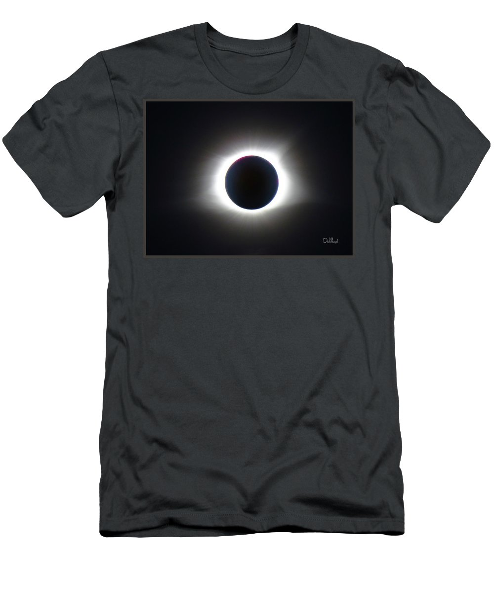 Totality Men's T-Shirt (Athletic Fit) featuring the photograph Totality 1 by Rick Lloyd