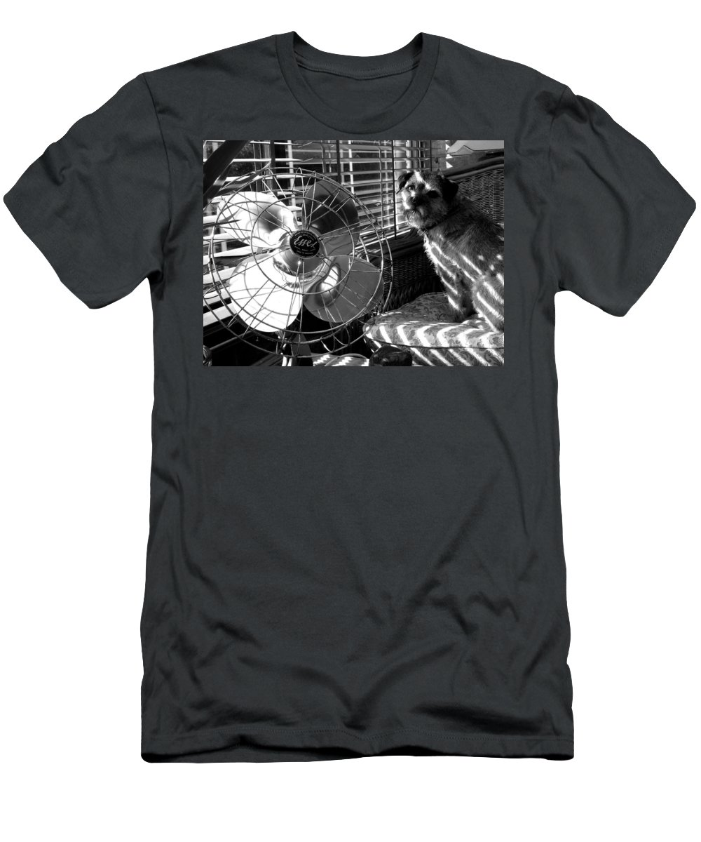 Electric Fan Men's T-Shirt (Athletic Fit) featuring the photograph Toto Checks In by Charles Stuart