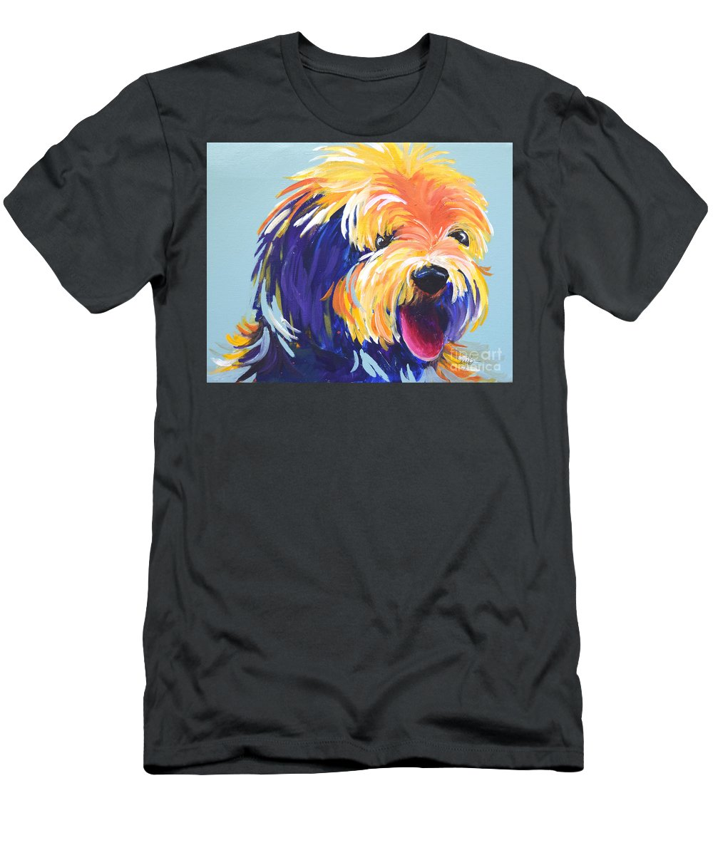 Abstract Pet Men's T-Shirt (Athletic Fit) featuring the painting Toto by Marla Beyer