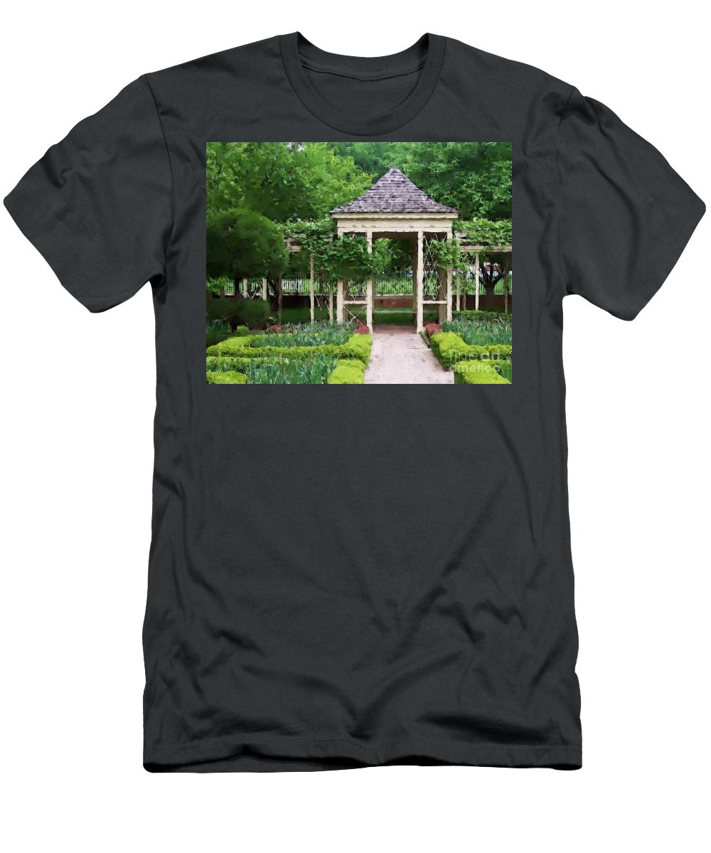 Garden Men's T-Shirt (Athletic Fit) featuring the photograph Tranquil by Debbi Granruth