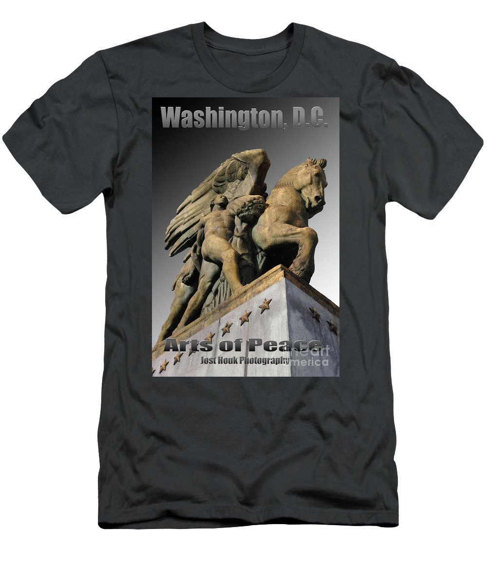 Washington Men's T-Shirt (Athletic Fit) featuring the photograph Travel-arts Of Peace by Jost Houk