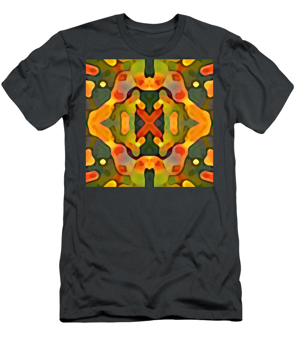 Abstract Men's T-Shirt (Athletic Fit) featuring the painting Treasure by Amy Vangsgard