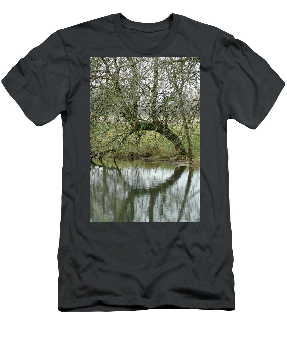 Tree Men's T-Shirt (Athletic Fit) featuring the photograph Tree Cannon by Sara Stevenson