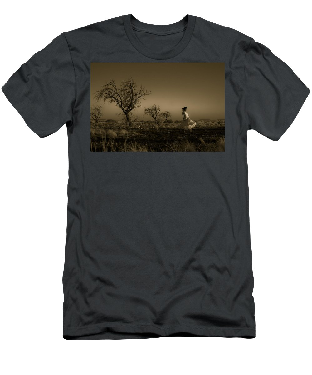 Woman Men's T-Shirt (Athletic Fit) featuring the photograph Tree Harmony by Scott Sawyer