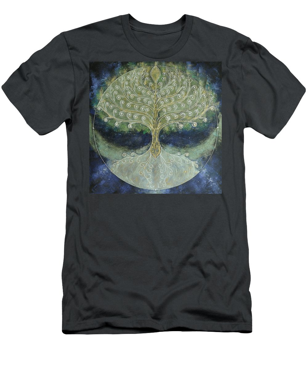 Tree Of Life Men's T-Shirt (Athletic Fit) featuring the painting Tree Of Life by Monica Castro