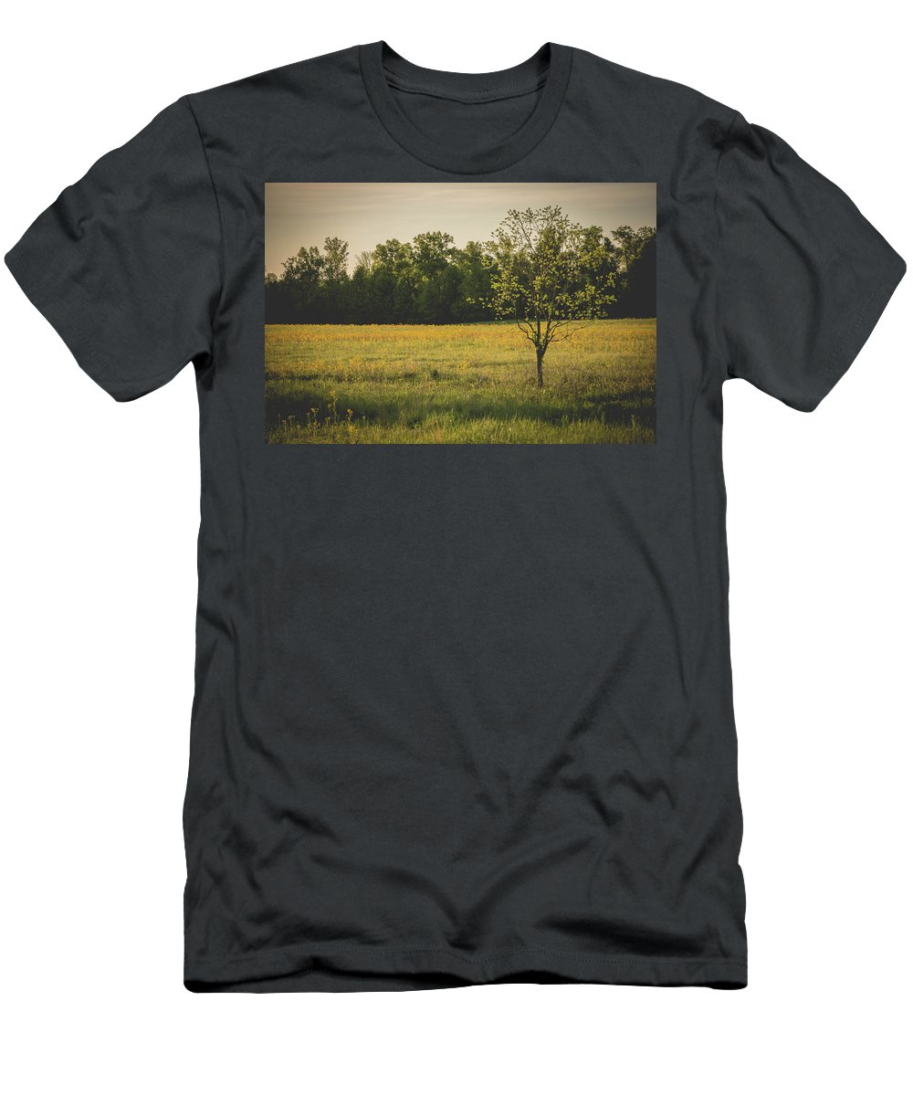 Landscape Men's T-Shirt (Athletic Fit) featuring the photograph Tree by William Tripp