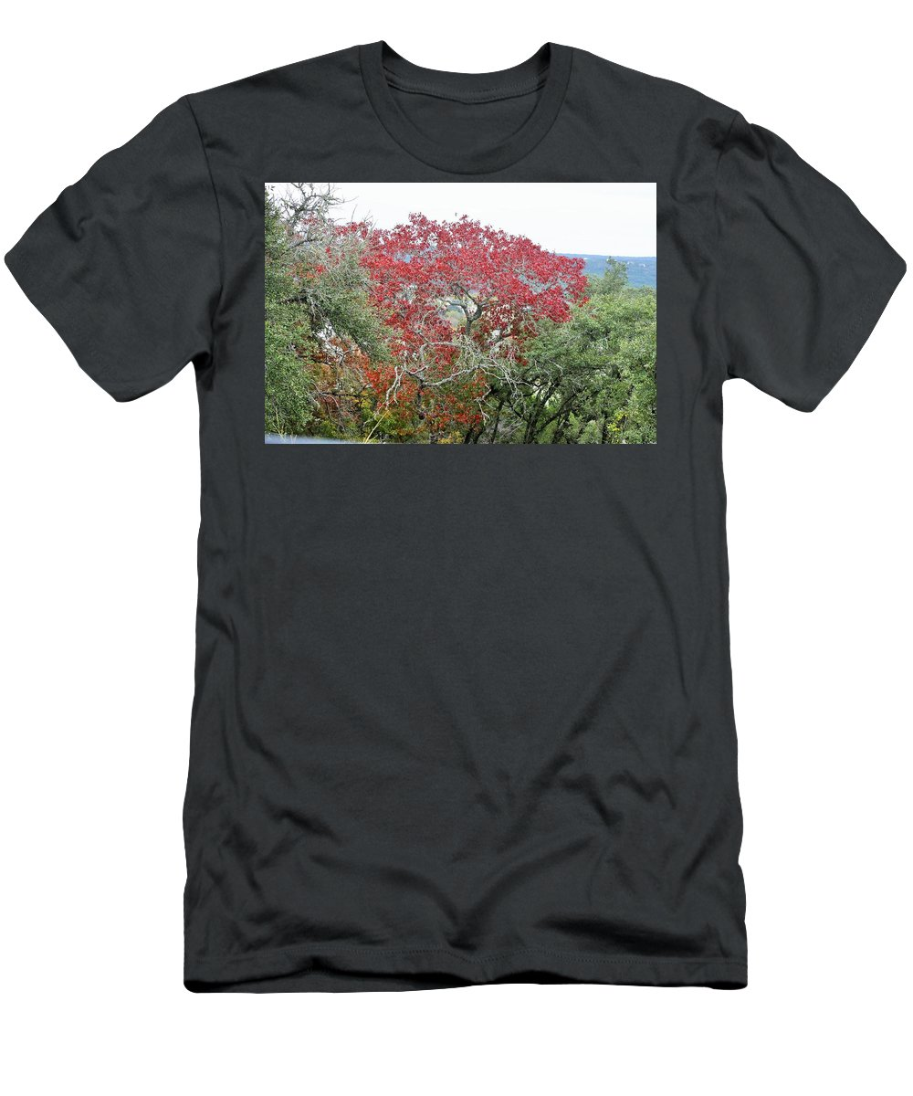 Men's T-Shirt (Athletic Fit) featuring the photograph Trees 010 by Jeff Downs