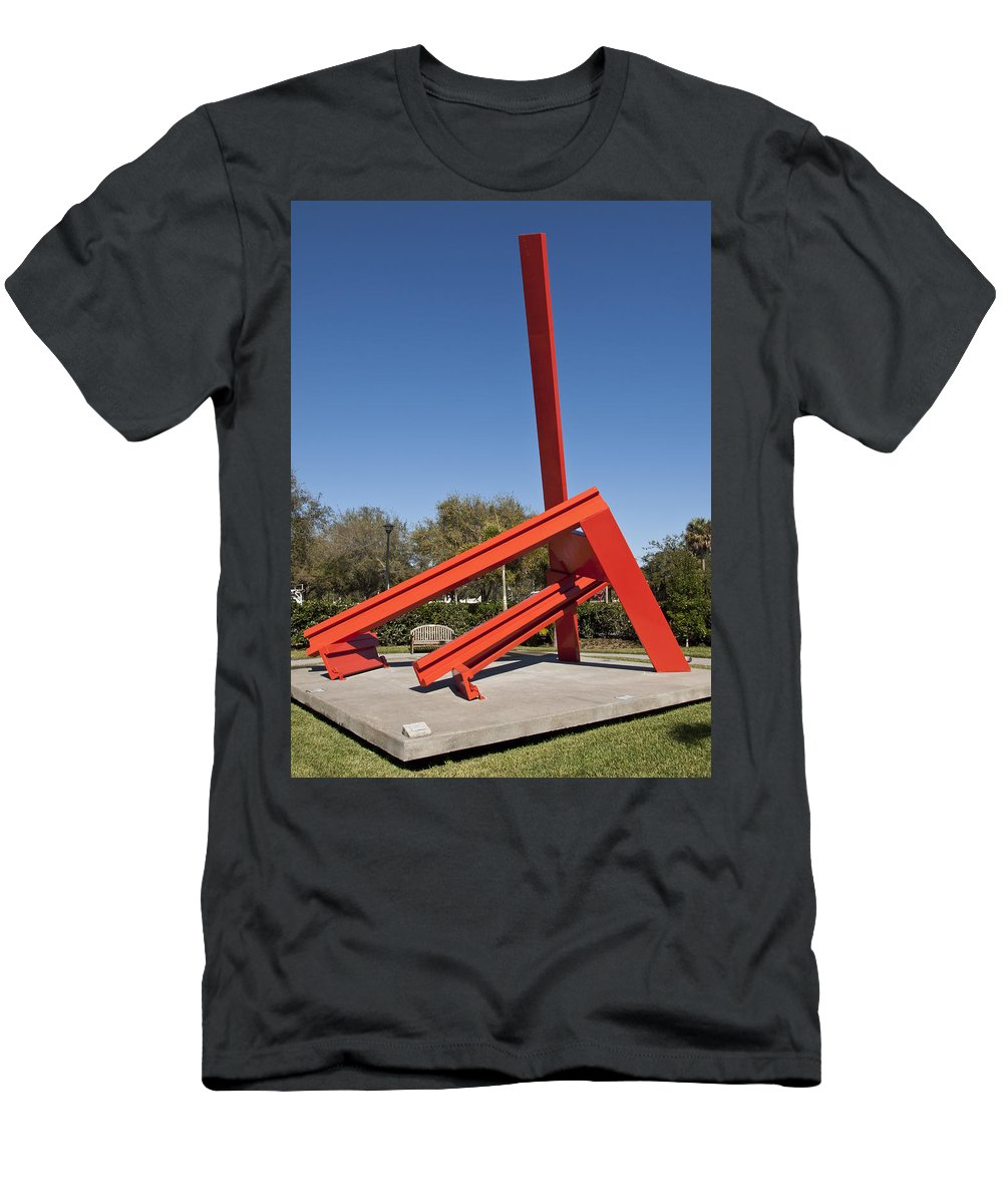 Trevan's Men's T-Shirt (Athletic Fit) featuring the photograph Trevan's Arch By Hayden Llewellyn Davies by Allan Hughes