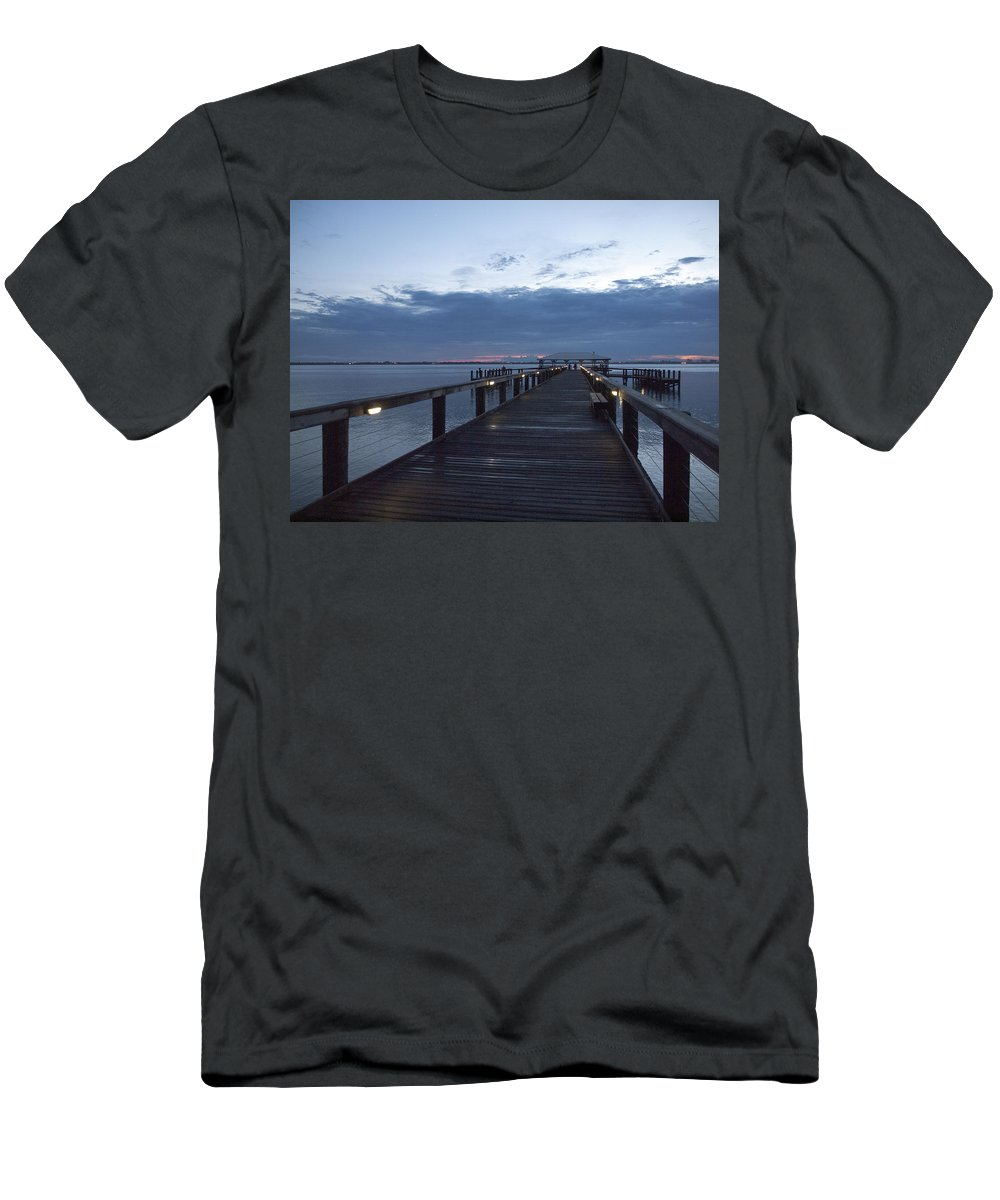 Twilight Men's T-Shirt (Athletic Fit) featuring the photograph Tropic Twilight On The Indian River by Allan Hughes