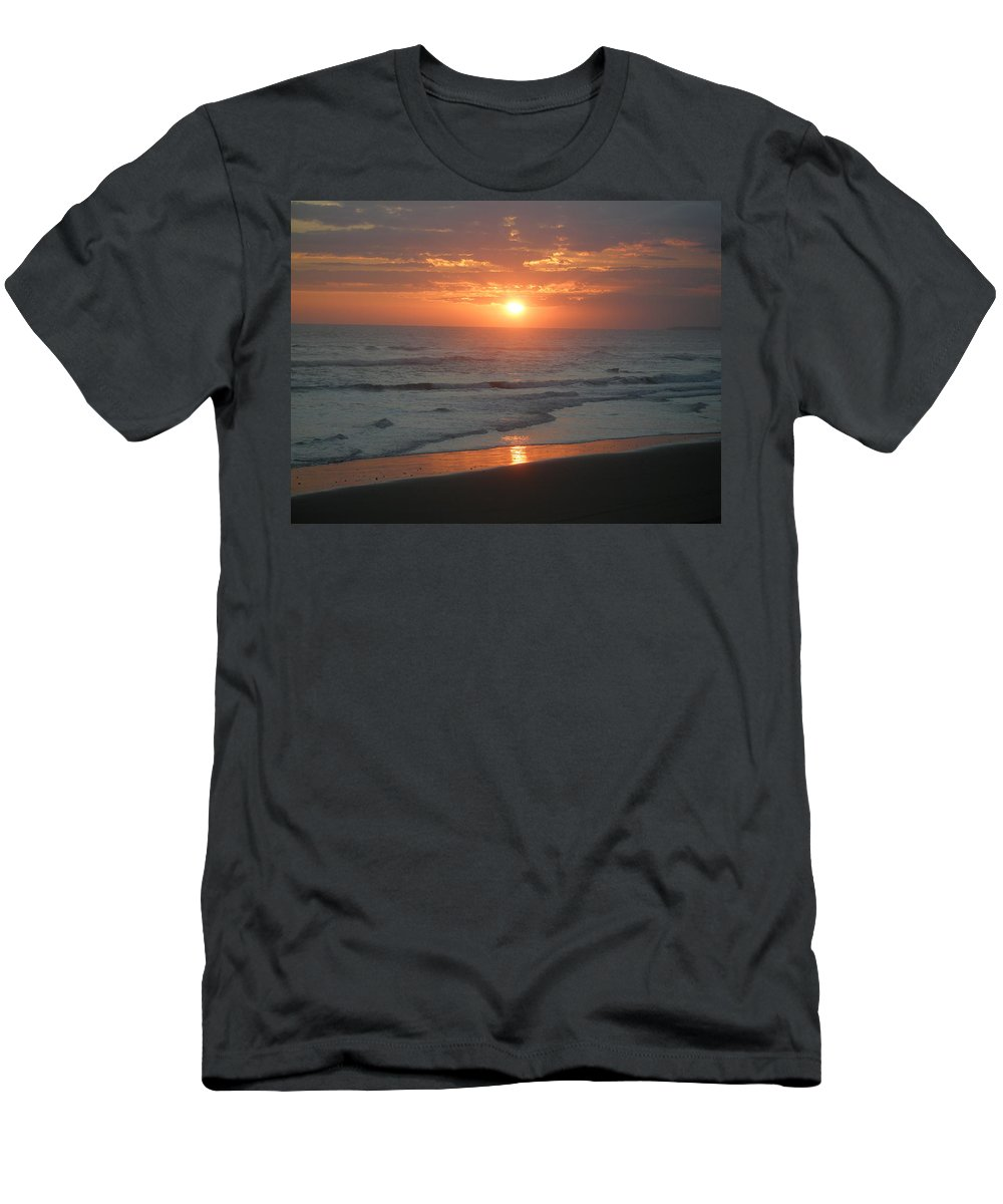 Bali Men's T-Shirt (Athletic Fit) featuring the photograph Tropical Bali Sunset by Mark Sellers