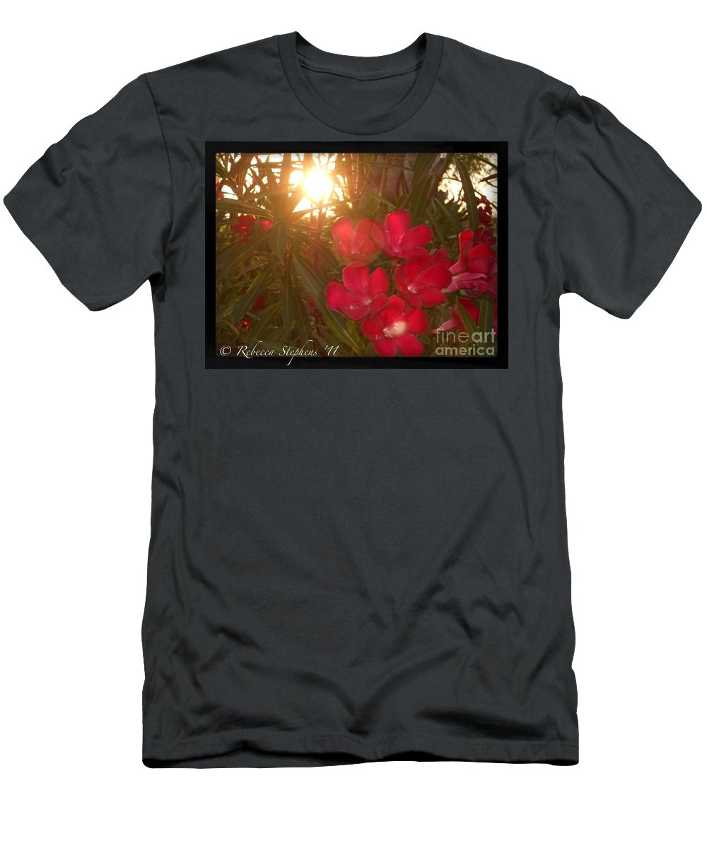 Tropical Men's T-Shirt (Athletic Fit) featuring the photograph Tropical Red by Rebecca Stephens