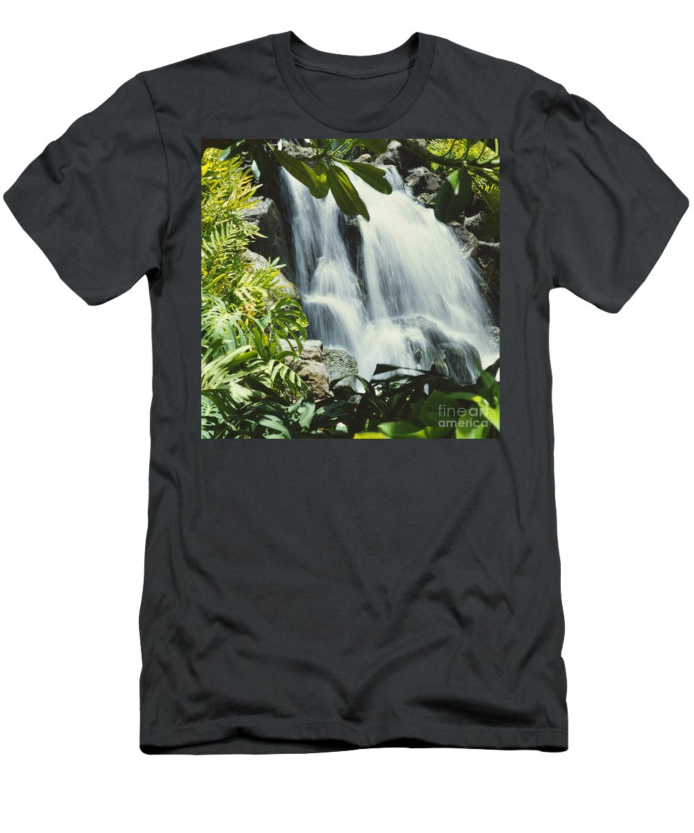 Active Men's T-Shirt (Athletic Fit) featuring the photograph Tropical Waterfall by David Cornwell/First Light Pictures, Inc - Printscapes
