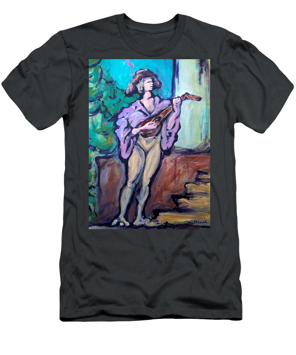 Troubadour Men's T-Shirt (Athletic Fit) featuring the painting Troubadour by Kevin Middleton