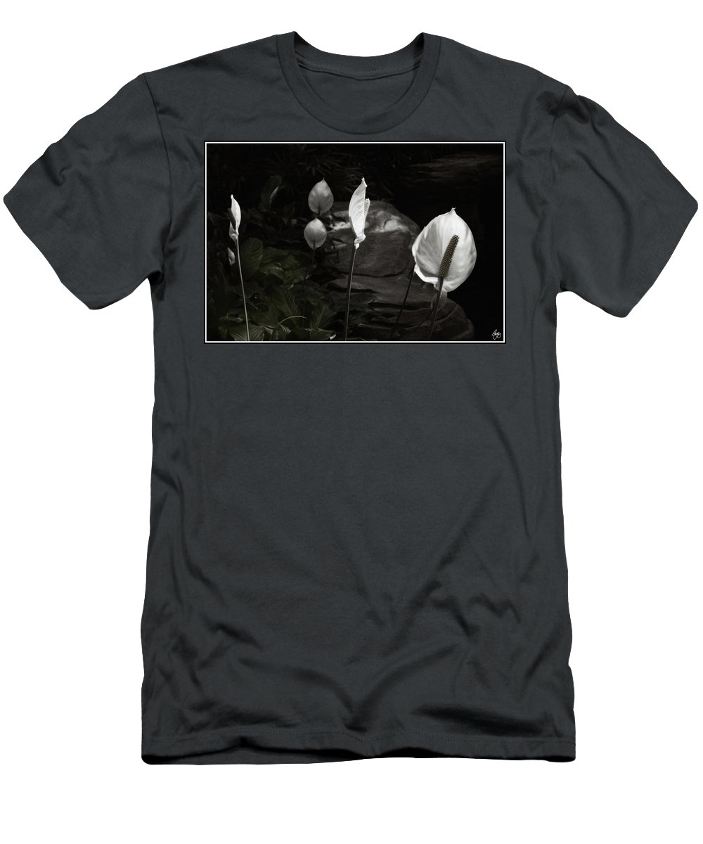 Trumpet Men's T-Shirt (Athletic Fit) featuring the photograph Trumpet Flower by Wayne King