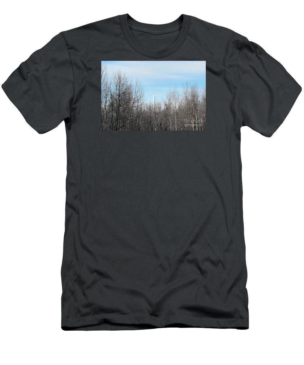 Woods Men's T-Shirt (Athletic Fit) featuring the photograph Trying To Fit In by William Tasker