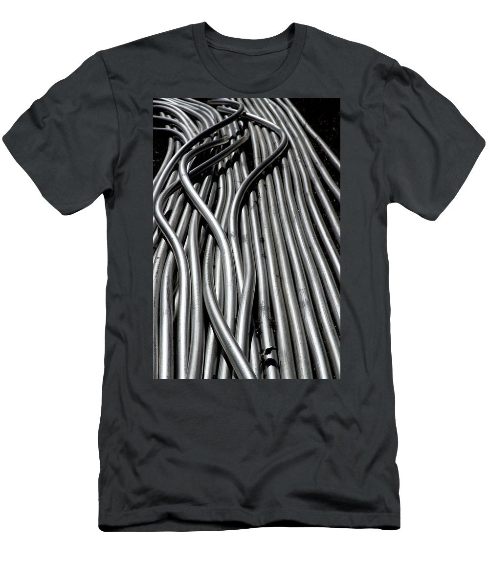 Tubes Men's T-Shirt (Athletic Fit) featuring the photograph Tubular Abstract Art Number 15 by James BO Insogna