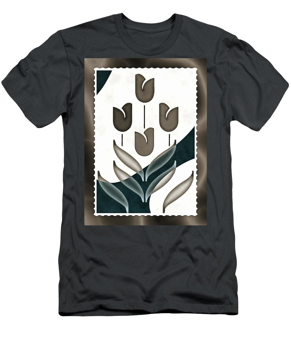 Graphic Art And Illustration Men's T-Shirt (Athletic Fit) featuring the digital art Tulip Mania by Mario Carini