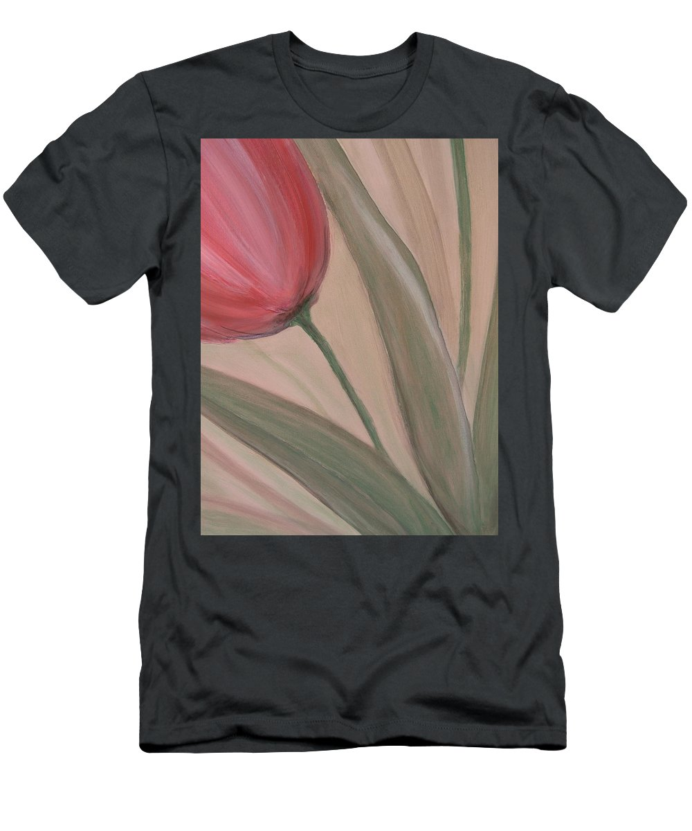 Tulips Men's T-Shirt (Athletic Fit) featuring the painting Tulip Series 2 by Anita Burgermeister