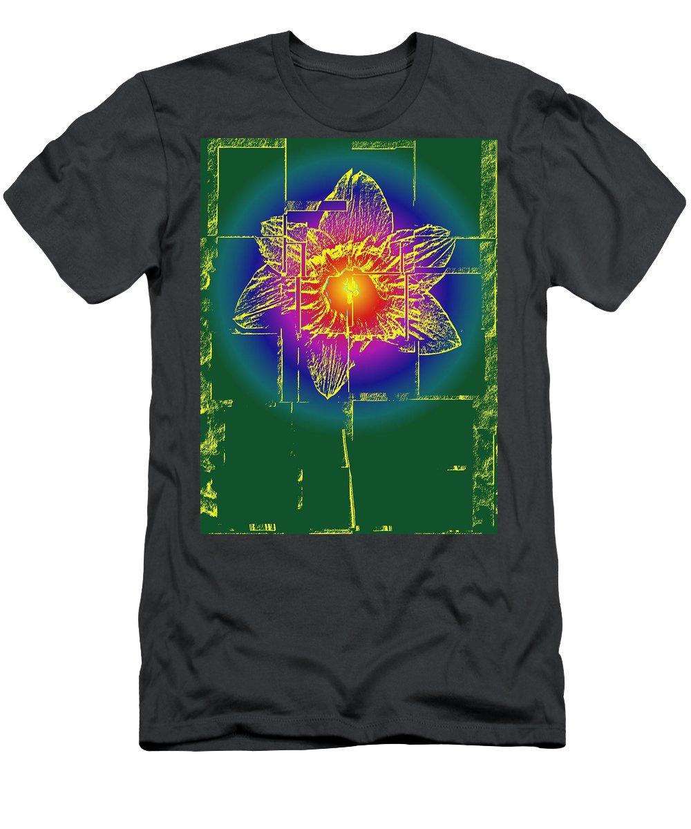 Tulip Men's T-Shirt (Athletic Fit) featuring the digital art Tulip by Tim Allen