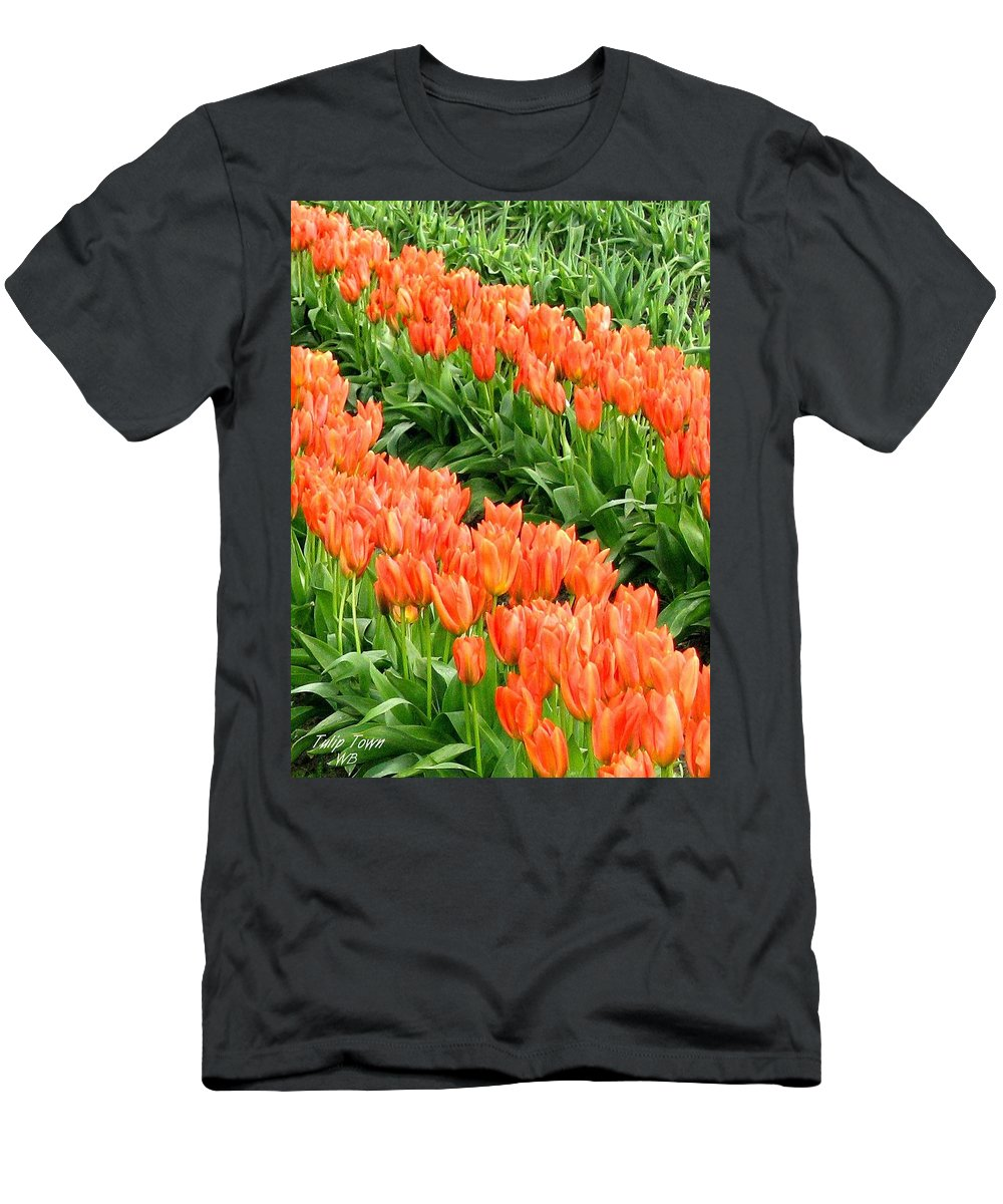 Agriculture Men's T-Shirt (Athletic Fit) featuring the photograph Tulip Town 7 by Will Borden