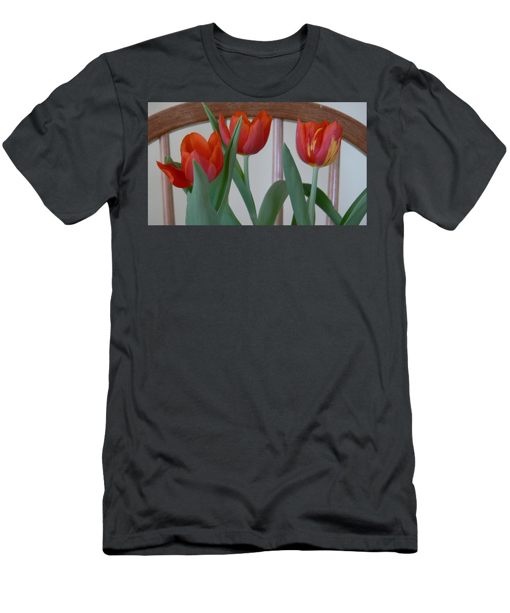 Spring Men's T-Shirt (Athletic Fit) featuring the photograph Tulips For You by Nancie DeMellia