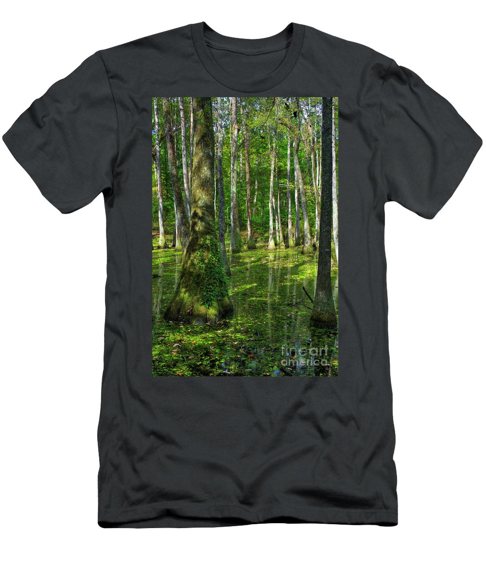 2009 Men's T-Shirt (Athletic Fit) featuring the photograph Tupelo Trees In Mississippi by Larry Braun