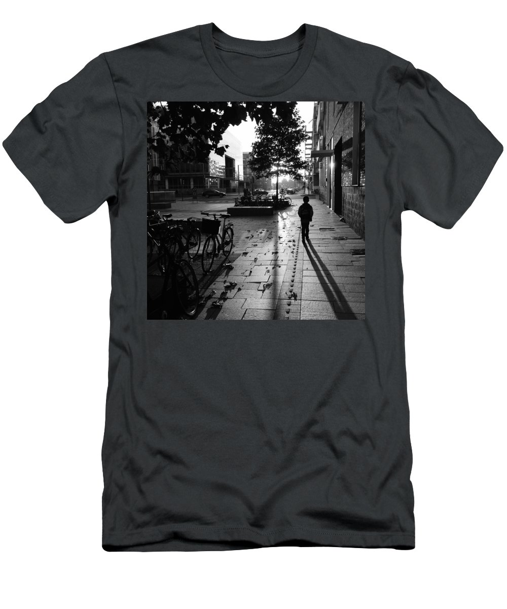 Morning Men's T-Shirt (Athletic Fit) featuring the photograph Tuesday Morning by Veturlidi Stefansson