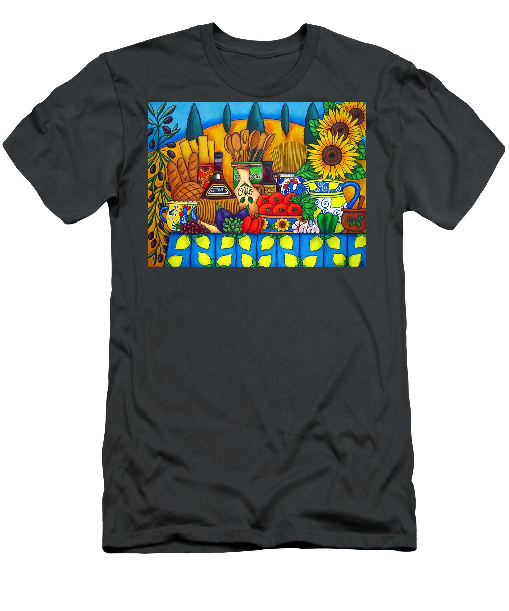 Still Life Men's T-Shirt (Athletic Fit) featuring the painting Tuscany Delights by Lisa Lorenz