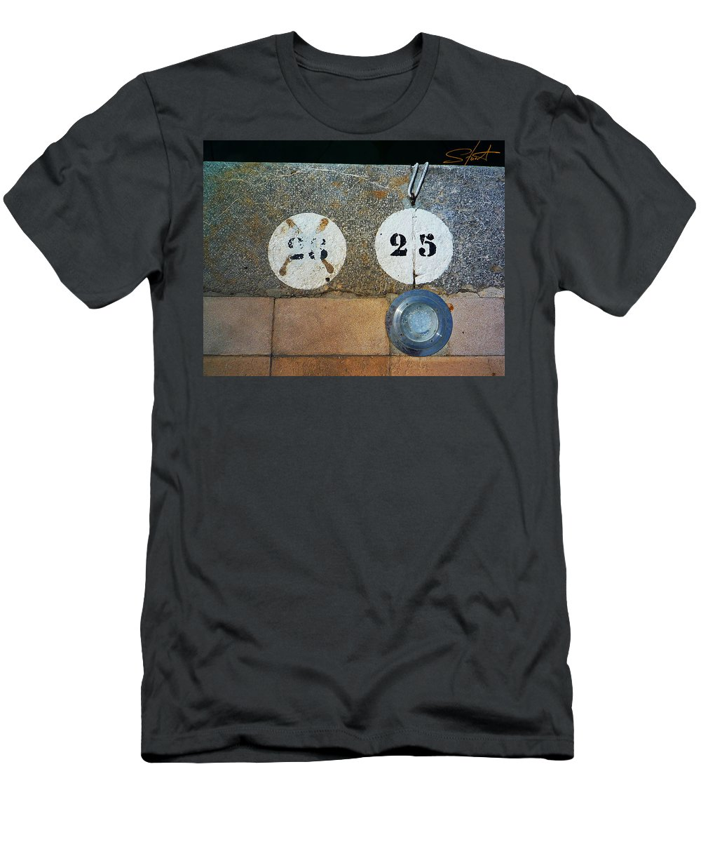 Number Men's T-Shirt (Athletic Fit) featuring the photograph Twenty Five by Charles Stuart