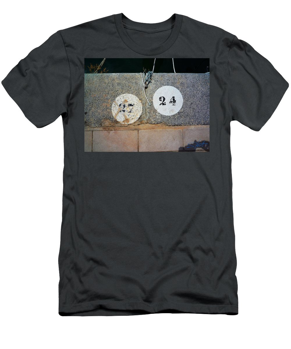 Number Men's T-Shirt (Athletic Fit) featuring the photograph Twenty Four by Charles Stuart