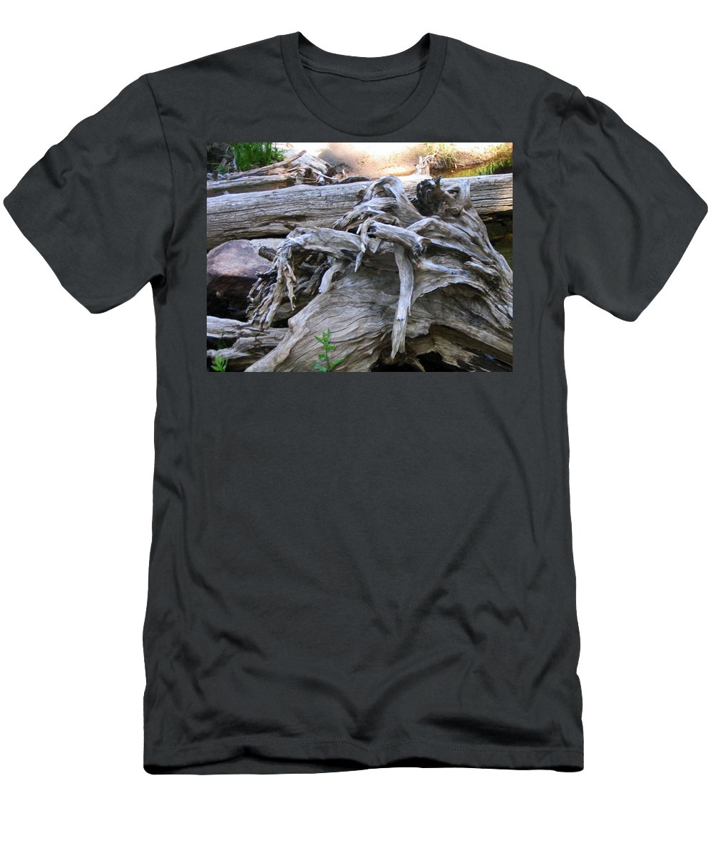 Landscape Men's T-Shirt (Athletic Fit) featuring the photograph Twisted Fate by Dawn Marshall
