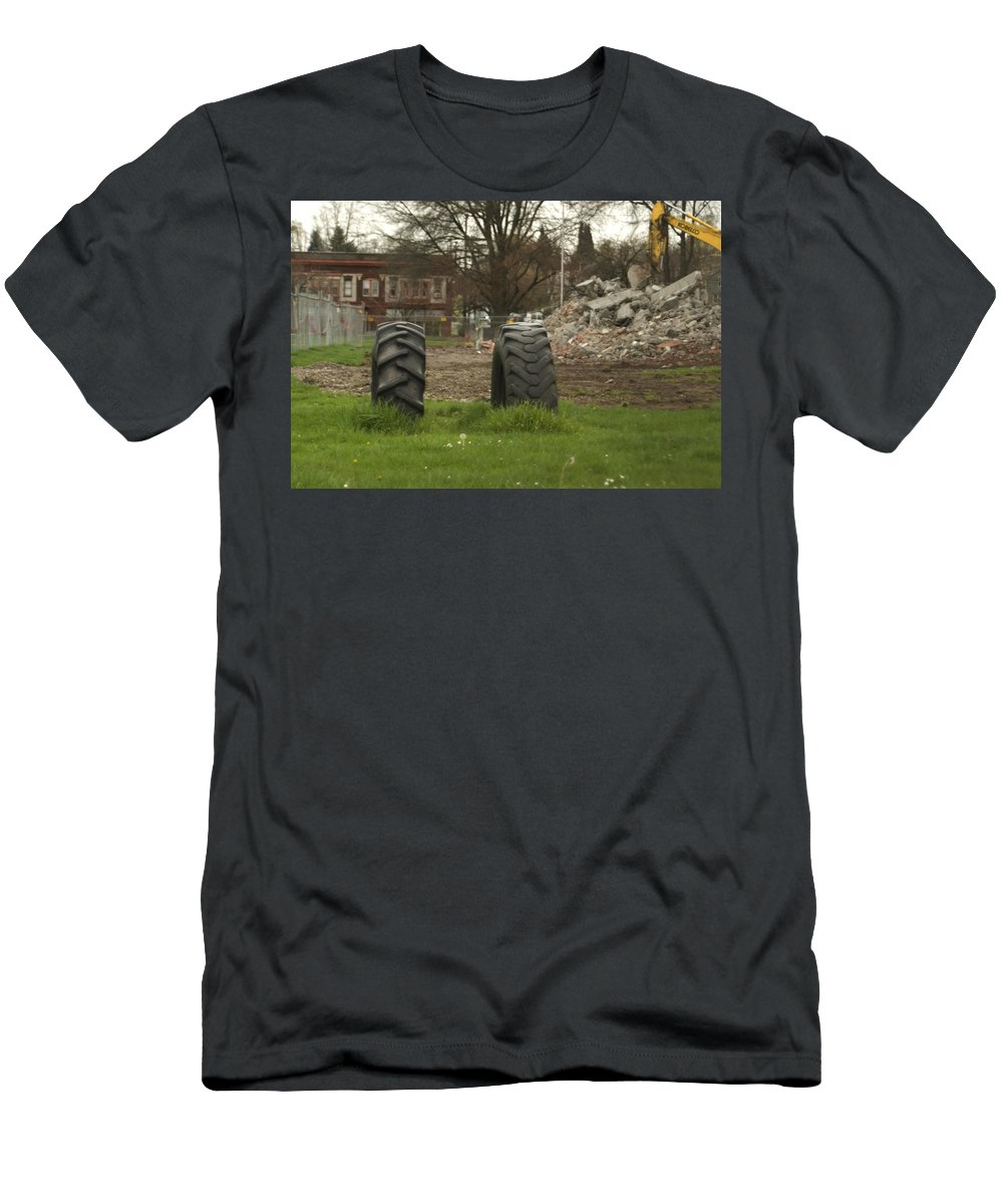 Tires Men's T-Shirt (Athletic Fit) featuring the photograph Two Tires by Sara Stevenson
