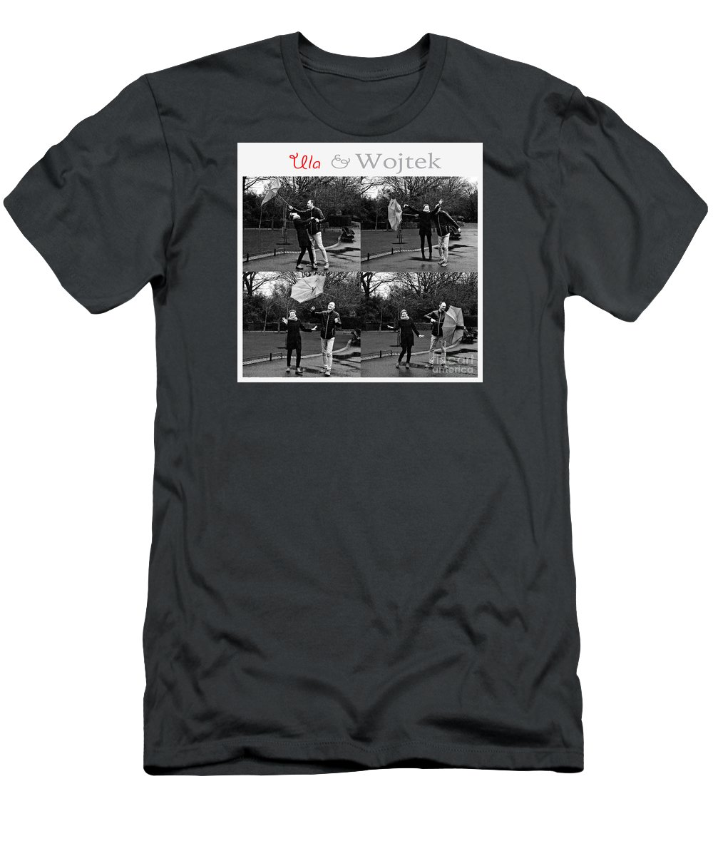 Engagement Men's T-Shirt (Athletic Fit) featuring the photograph Ula And Wojtek Engagement 3 by Alex Art and Photo