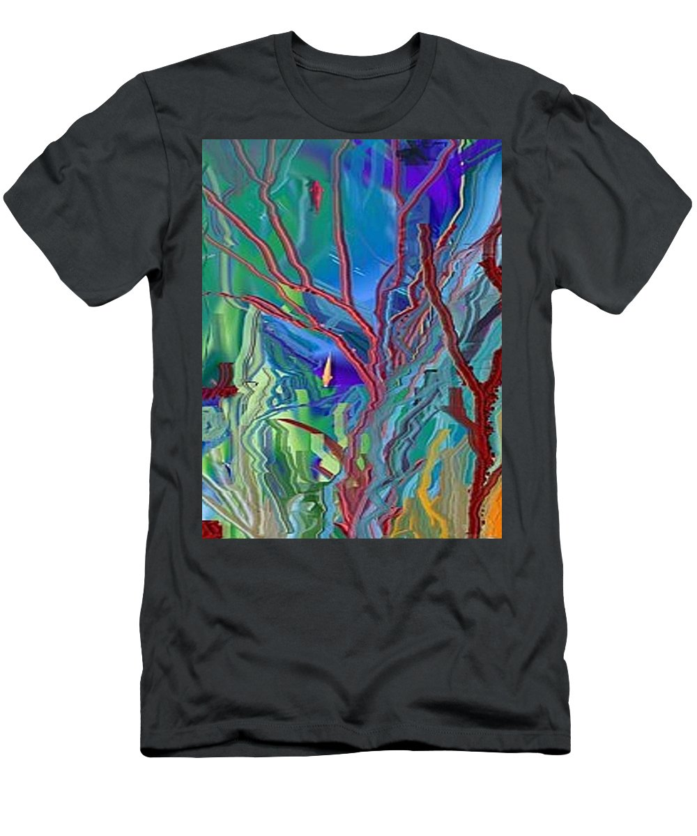 Sea-anenomies Men's T-Shirt (Athletic Fit) featuring the digital art Under The Sea by Susan Oliver