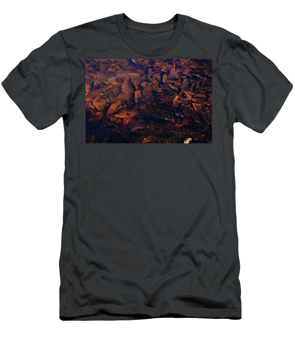 Heron Heaven Men's T-Shirt (Athletic Fit) featuring the photograph Under Water by Edward Peterson