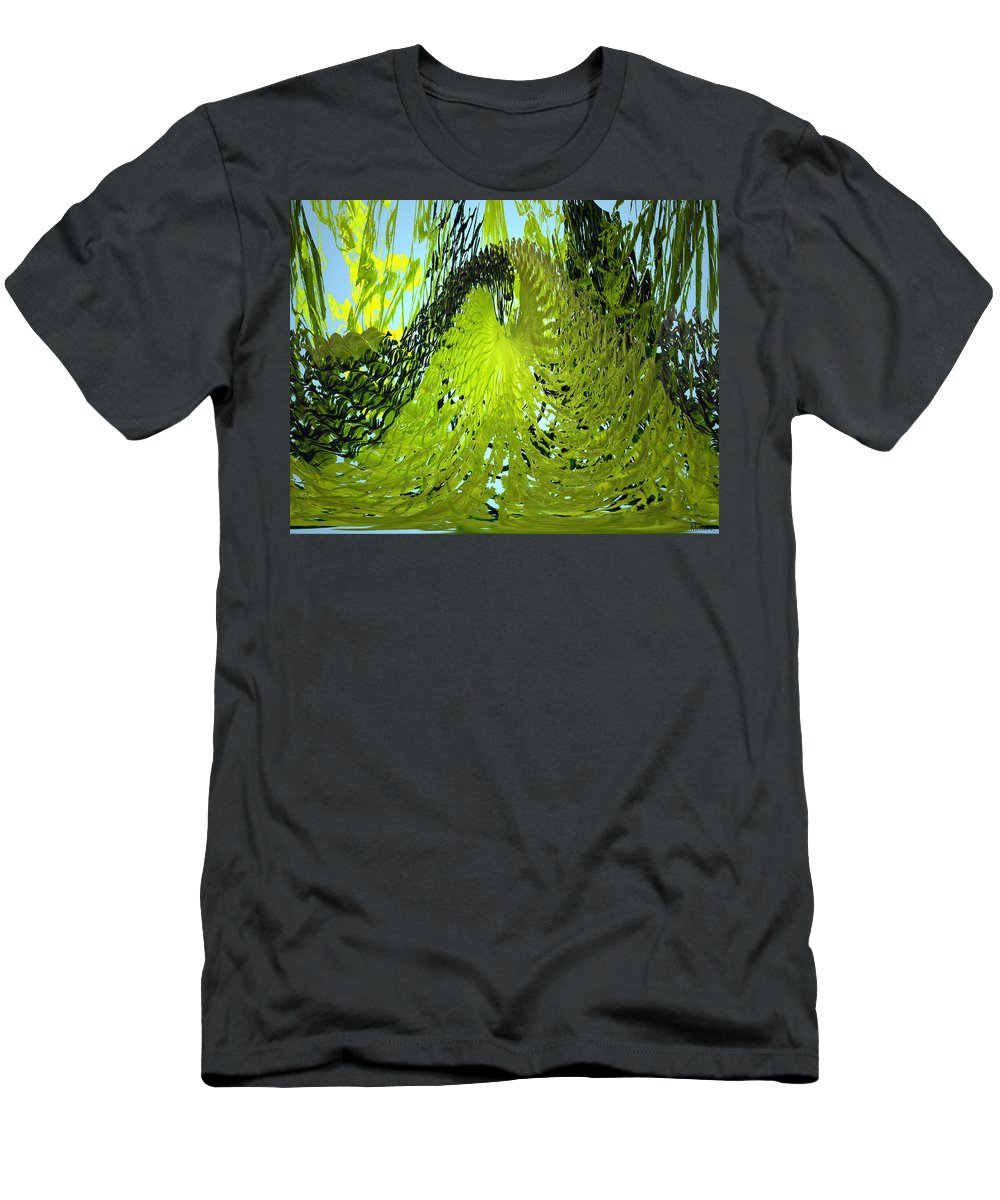 Seaweed Men's T-Shirt (Athletic Fit) featuring the photograph Under Water by Merja Waters