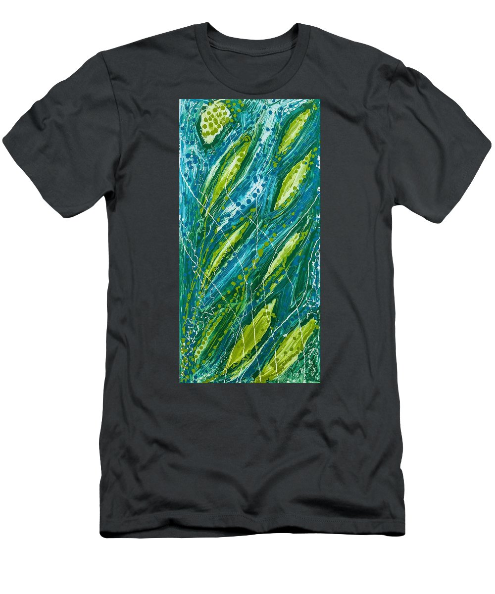 Abstract Men's T-Shirt (Athletic Fit) featuring the painting Undisclosed Husk by Dianne Bartlett