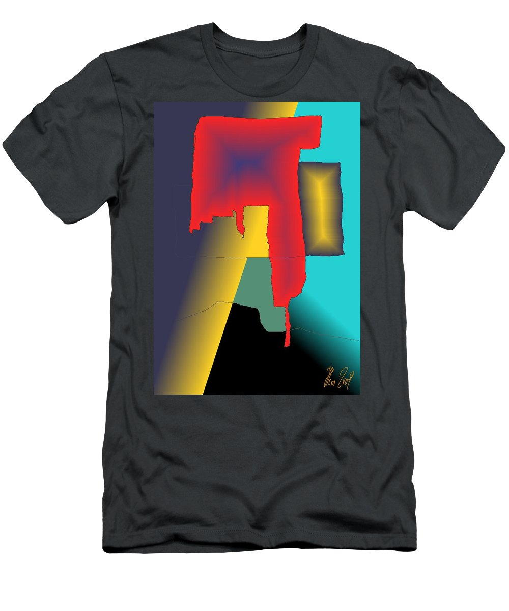 Red Men's T-Shirt (Athletic Fit) featuring the digital art Unexpected- Red by Helmut Rottler