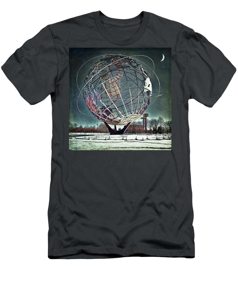 Unisphere Men's T-Shirt (Athletic Fit) featuring the photograph Unisphere by Chris Lord