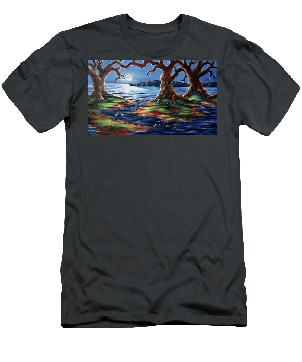 Textured Painting T-Shirt featuring the painting United Trees by Jennifer McDuffie