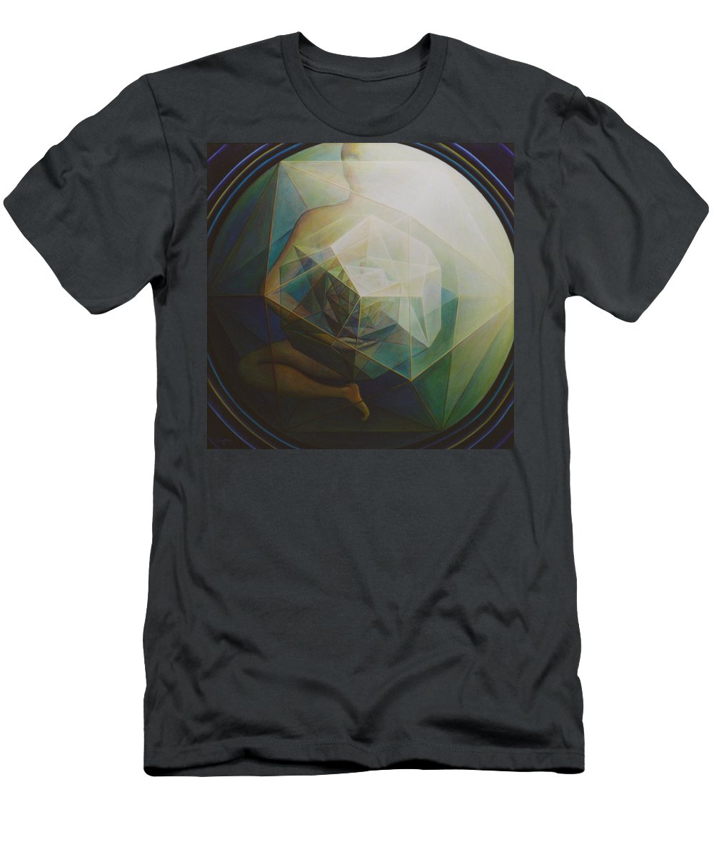 Spiritual Paintings Men's T-Shirt (Athletic Fit) featuring the painting Universal Map by Nad Wolinska