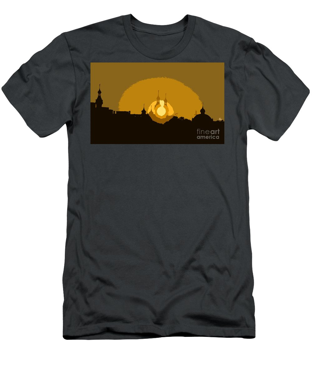 University Of Tampa Men's T-Shirt (Athletic Fit) featuring the painting University Minarets by David Lee Thompson