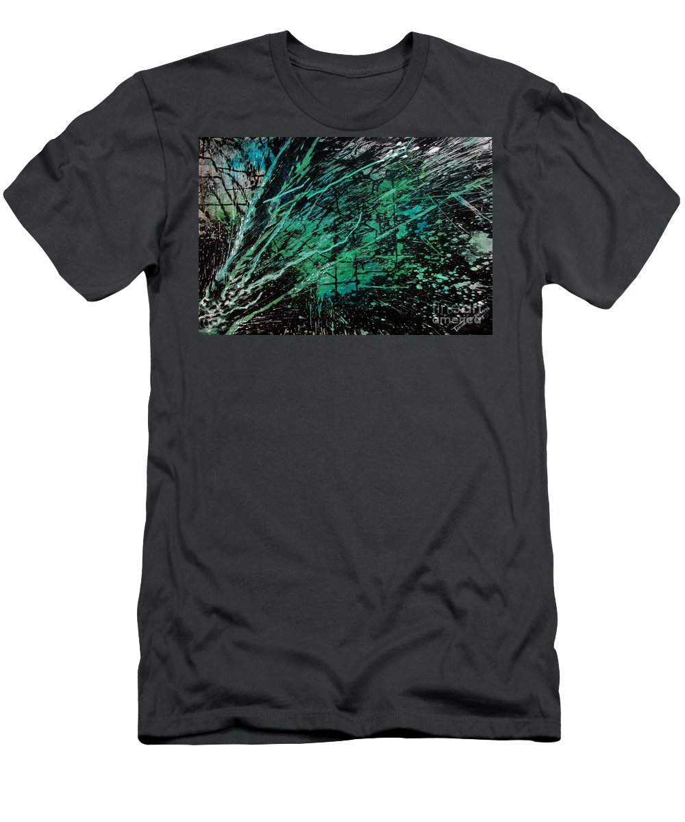 Art Men's T-Shirt (Athletic Fit) featuring the painting Untitled-65 by Tamal Sen Sharma