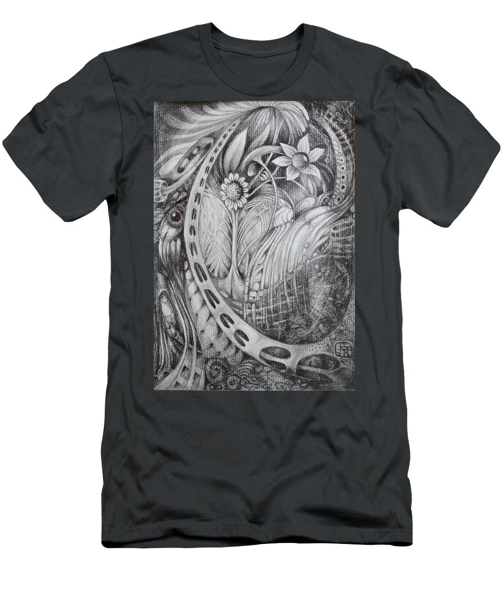 Drawing T-Shirt featuring the drawing Untitled A5 2018-08-01 by Otto Rapp