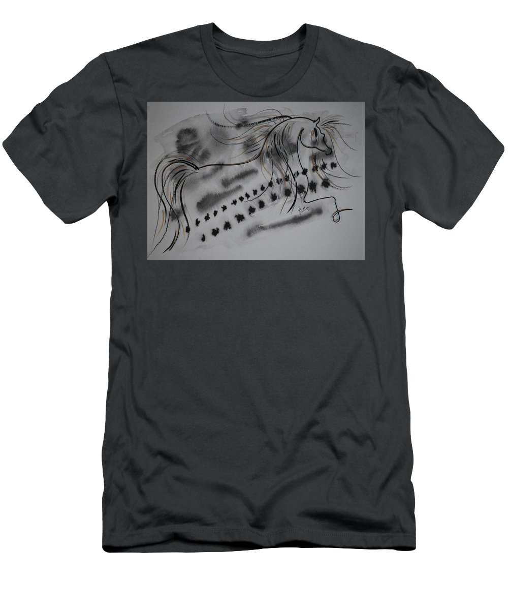 Horse Men's T-Shirt (Athletic Fit) featuring the painting Untitled by Leitha Stone