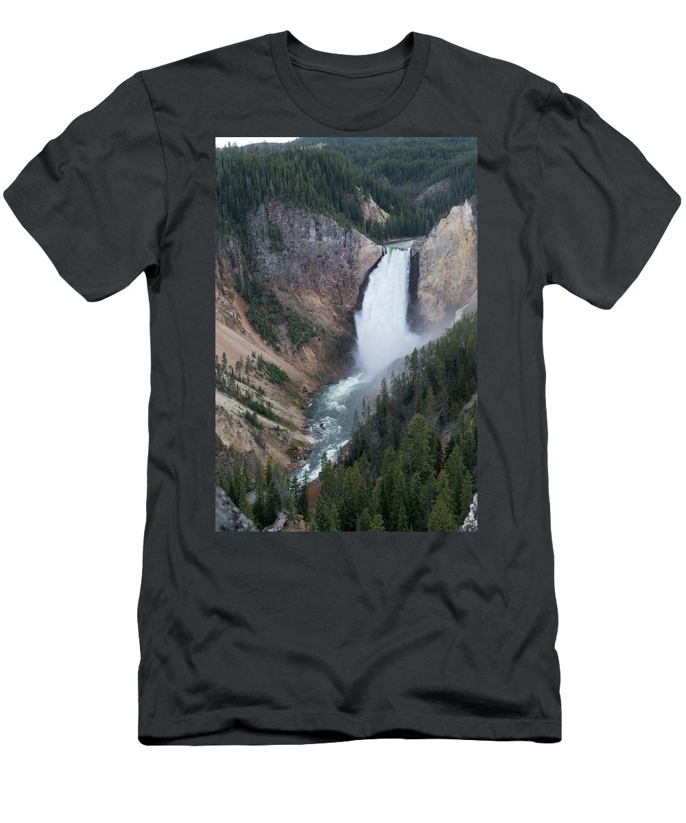 Grand Canyon Men's T-Shirt (Athletic Fit) featuring the photograph Upper Yellowstone by Linda Kerkau