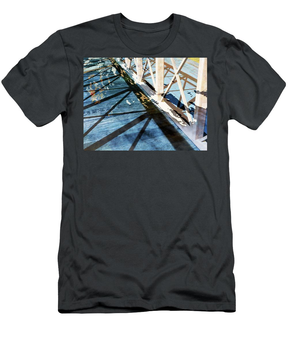 City Men's T-Shirt (Athletic Fit) featuring the photograph Urban Abstract 706 by Don Zawadiwsky